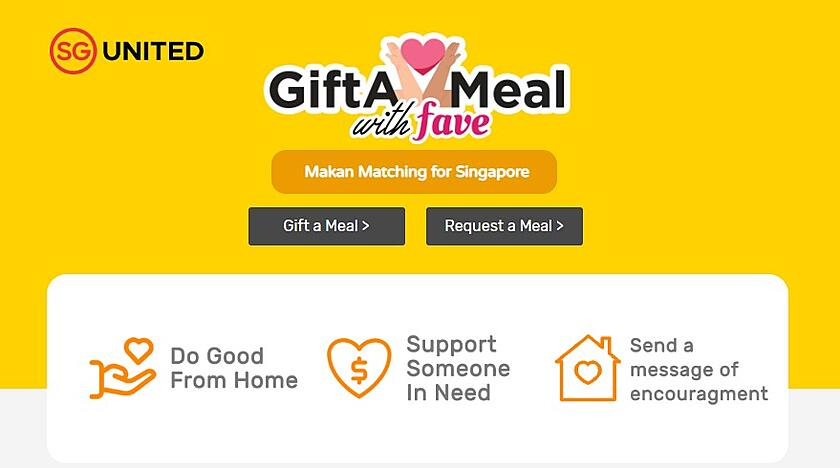 Donate a meal on Fave GiftAMeal Collection