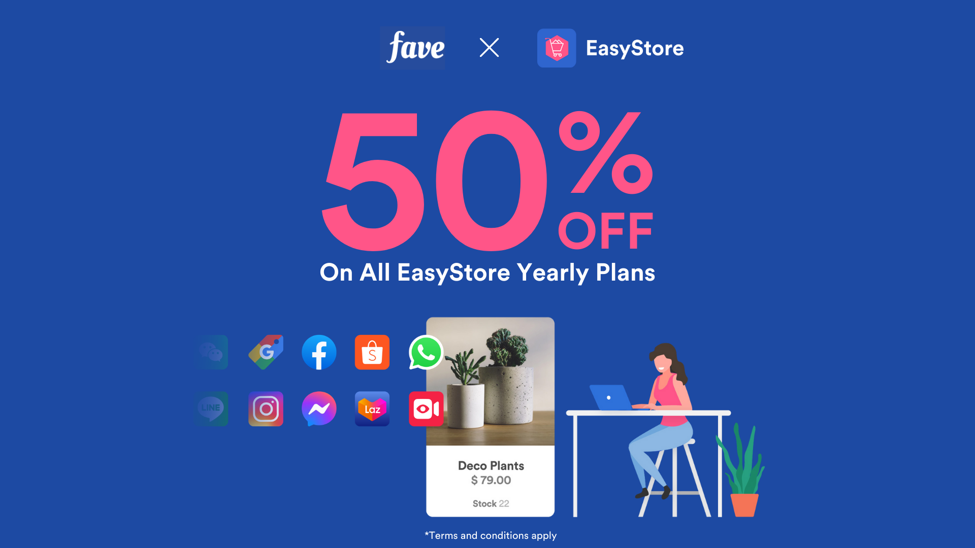 Easystore 50% off